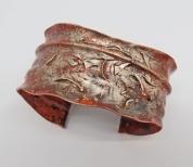 Sprinkled Silver Cuff bracelet 1