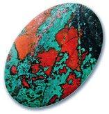 Chrysocolla and Cuprite Gemstone