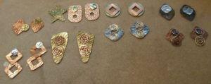 Metal Earrings in progress
