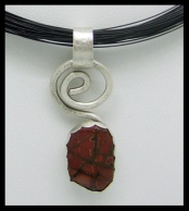 Red Creek Jasper Spiral Collection Pendant