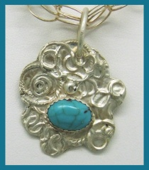 Turquoise & Sterling Pendant