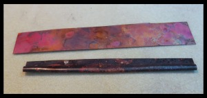 copper raw for folds