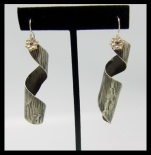 Sterling Sacred Spiral Earrings $35