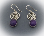 Amethyst Sacred Spiral Earrings