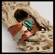 Copper Cuff Malachite cholla