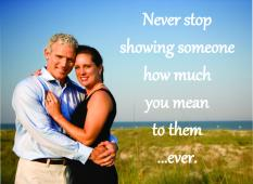 never stop showing